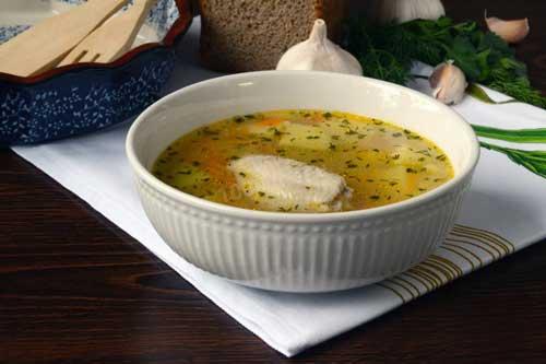Суп с пшеном и чесноком