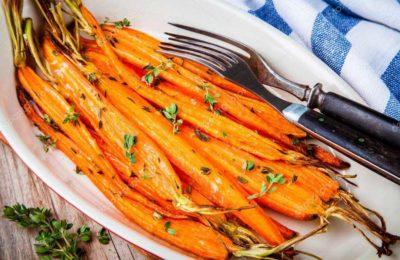 Печёная морковка с тимьяном