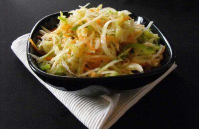 Салат из тёртой моркови с капустой кольраби