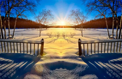 Зимнее солнышко светит так низко…